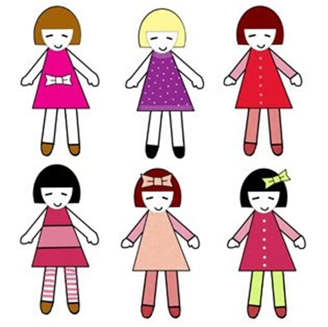 Make Cut Out Paper Dolls - simple paper doll template new calendar template site