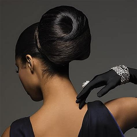 black hair buns black bun hairstyles