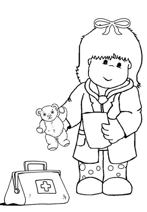 woman doctor coloring page doctor coloring pages for kids coloring home