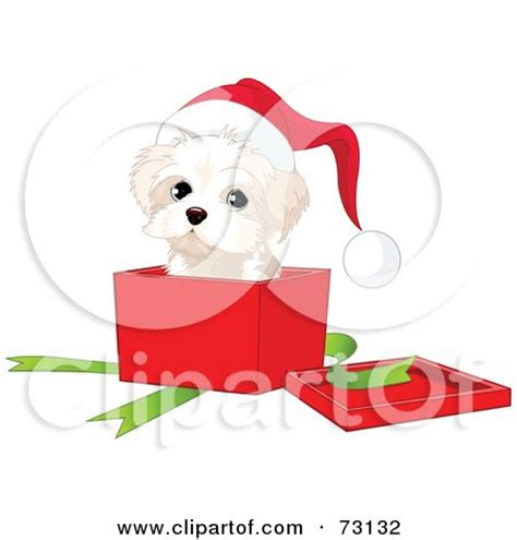 santa hat music box royalty free rf clipart illustration of a west highland white terrier puppy wearing a santa
