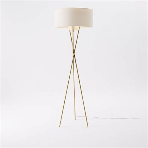 Westelm Floor L by Mid Century Tripod Floor L Antique Brass West Elm