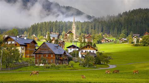 austria austria gosau village village  house phone