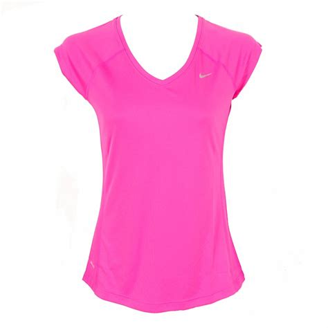 Nike The Top Running Pink nike miler shortsleeve v neck top pink