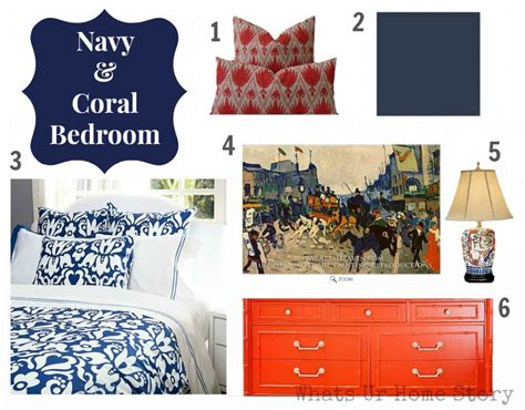 navy blue and coral bedroom ideas navy coral it is whats ur home story