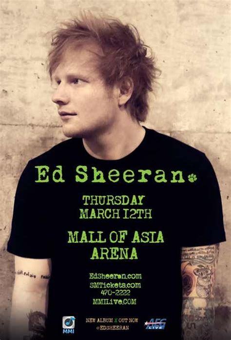 ed sheeran upcoming concerts 16 best images about manila concerts on pinterest poster