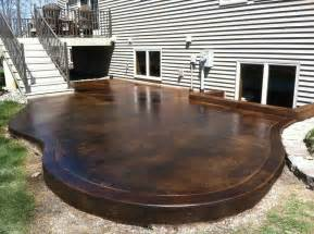 Concrete Patio Staining by Project Photo Gallery With Black Acid Stain Directcolors Com