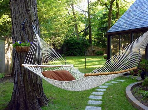 hammock ideas backyard backyard hammock outdoorzee pinterest