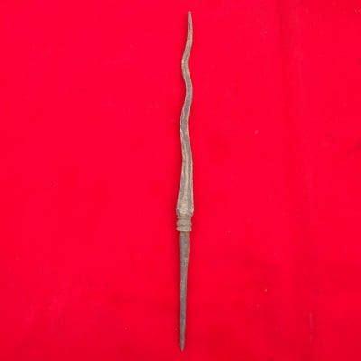 Batu Akik Pamor Cacing Kanil Hitam tombak cacing kanil keris semar mesem