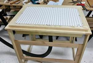 how to build a folding workshop table with 3 tops router
