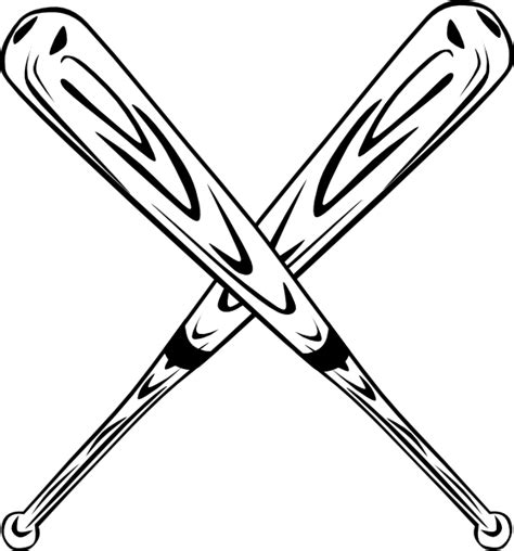 Baseball Bats Crossed Clipart crossed bats clip at clker vector clip royalty free domain