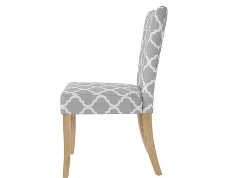 wincott grey and white fabric dining chair