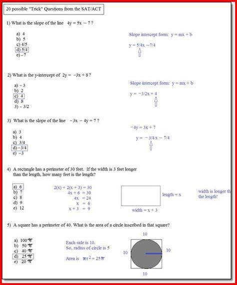 Act Practice Worksheets by Sat Prep Worksheets Lesupercoin Printables Worksheets