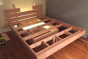 Free Queen Size Platform Bed Frame Plans by Gallery For Gt Diy Floating Platform Bed