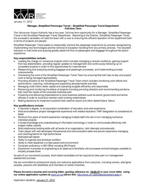 Airport Operations Specialist Cover Letter by Av Op Connections January 2012