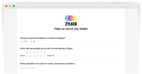 Survey On Line - create online surveys and questionnaires for free zoho