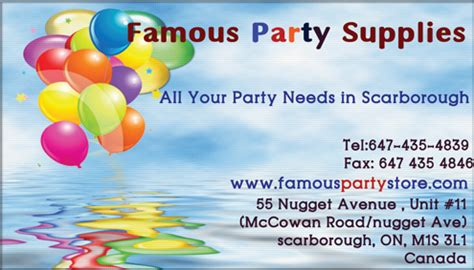 Famous  Ee  Party Ee   Supplies Scarborough