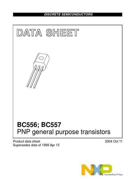 bc557 transistor features bc556 bc557