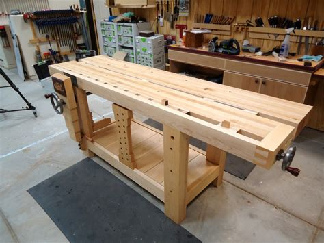 woodworking work bench split top roubo workbench the wood whisperer guild