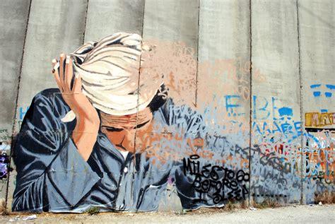 Wall Murals Photo Wallpaper new piece on palestine wall by shai dahan brooklyn