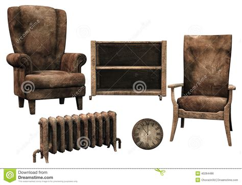 dusty couch old dusty furniture stock illustration image 40284486