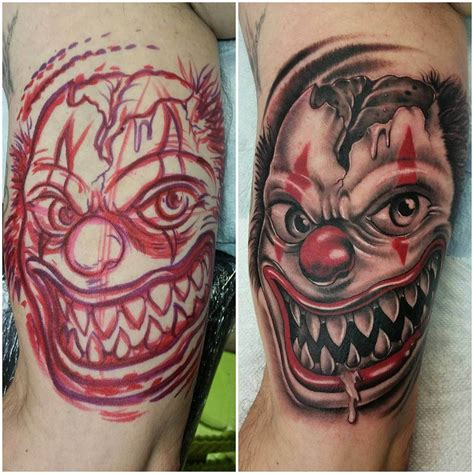 scary clown tattoos 27 clown designs ideas design trends premium