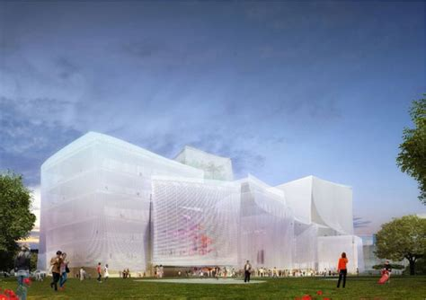 Architectural Design Plans sanaa wins taichung city cultural center competition