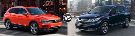 compare  volkswagen tiguan   honda cr  streetsboro