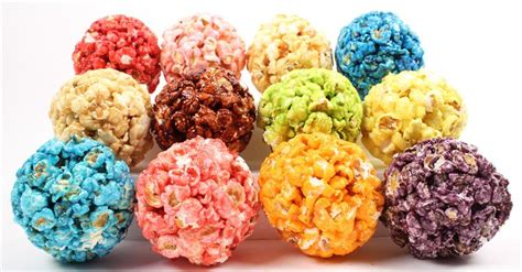 colored popcorn balls march 2014 gourmet popcorn bars for your wedding or