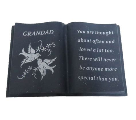 memorial picture book grandad black memorial book ornament doves garden