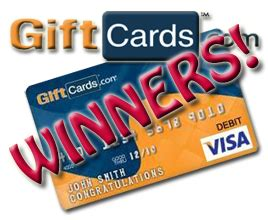 And The $50 Visa Gift Card Giveaway Winners Are ... $50 Visa Gift Card Png