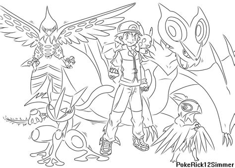 pokemon xyz coloring pages pokemon xyz ash coloring pages coloring pages