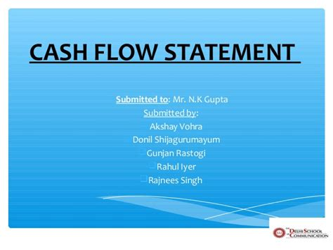 Flow Statement Ppt For Mba by Flow Statement With Exles