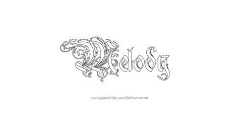 melody name tattoo designs