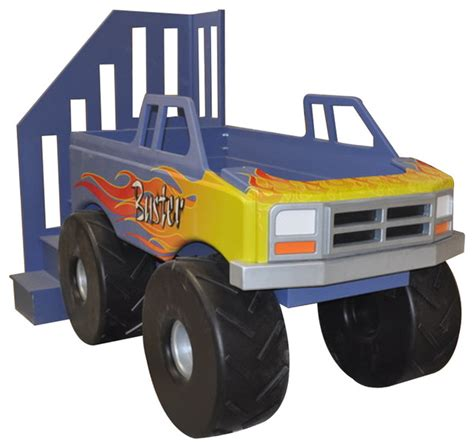 kids truck bed monster truck loft bed traditional kids houston by
