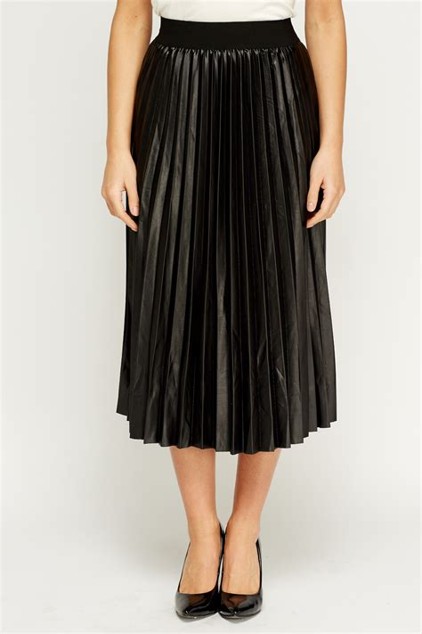 pleated high waisted midi skirt just 163 5