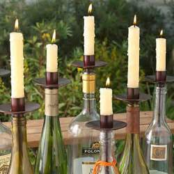 Decorating ideas with empty wine bottles room decorating ideas