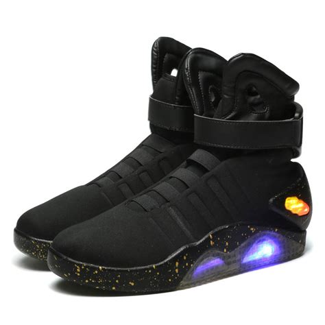Sport Shoes Led back to the future marty mcfly shoes light up mens