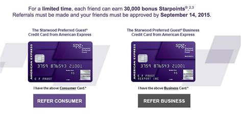 3 Sle Credit Card Offers How To Get Your Own Spg Referral Links And Put Your Referrals Here Running With