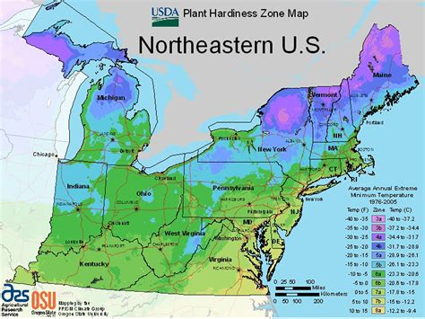 usda zone map maps for growing zones from the usda how cold it gets