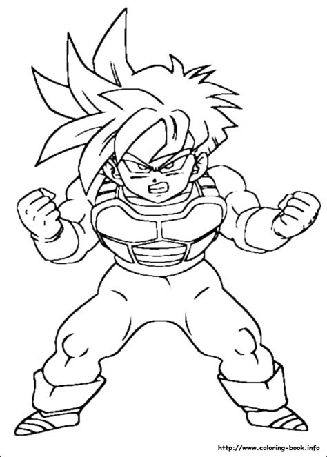 printable coloring pictures of dragon ball z dragon ball z coloring picture
