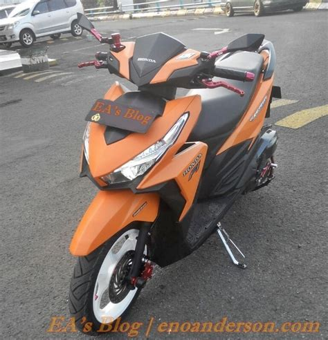 Karpet Dek Vario 150 modifikasi minimalis honda vario 150 esp custom orange