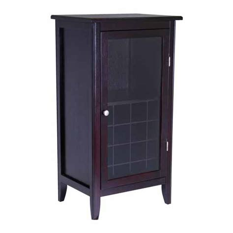 Winsome Wood Wine Cabinet With Glass Door Espresso Wine Cabinet Winsome Wood Espresso Wine Storage Cabinet