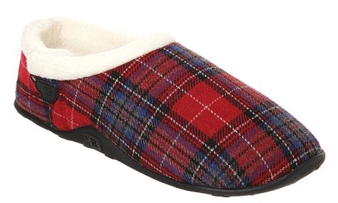 slipper and the mens homeys homeys slipper tartan flai casual shoes ebay