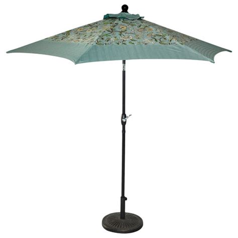 better homes and gardens 9 umbrella aqua jacobean