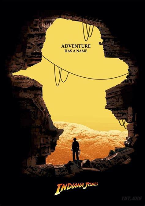 design poster film adventure has a name indiana jones graphic design
