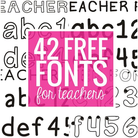 free printable fonts download 42 free fonts for teachers teach junkie