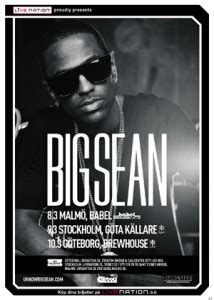 big sean poster 130308 1 big sean us live support p j se