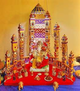 Decoration For Ganesh Festival At Home 186 Best Ganpati Decoration Ideas Images On At