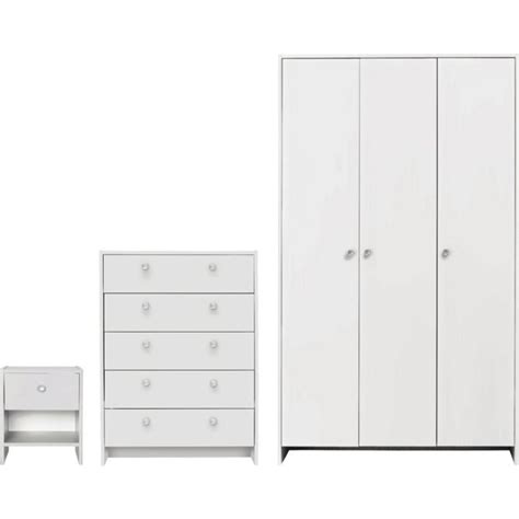 buy home seville 3 3 door wardrobe package white