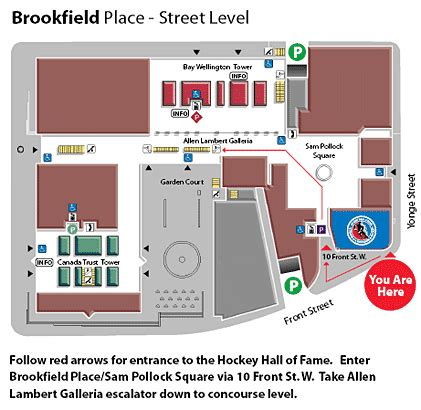 Retail Store Floor Plan brookfield place street level